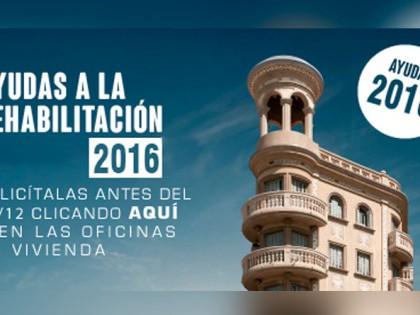 Se abre el plazo para las ayudas para la rehabilitación de viviendas y edificios 2016